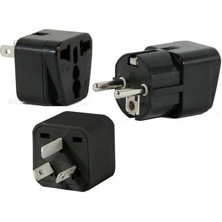 US to CHINA Travel Adapter Plug Universal ASIA Type E(C/F) A & I 3 Pack Set Kit