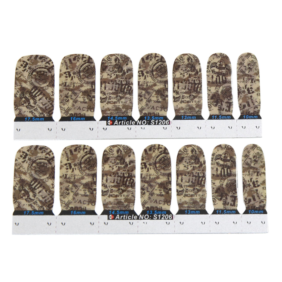 1 Set Army Green Nail Manicure Patch Stickers DIY Nails Art Tips Adhesive Decals - image 1 of 1