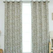 Best Home Fashion, Inc. Floral Vine Paisley Blackout Thermal Grommet Curtain Panels (Set of 2)