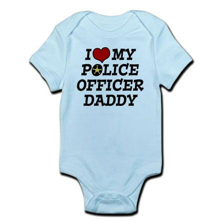 CafePress - I Love My Police Officer Daddy Infant Bodysuit - Baby Light Bodysuit](Baby Police Uniform)