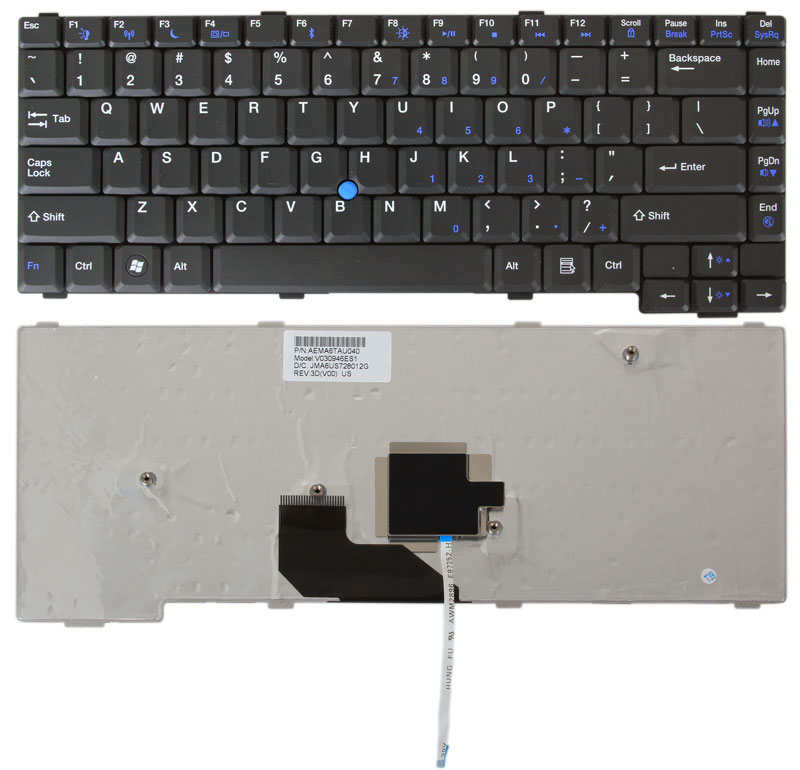 Gateway Laptop Keyboard for Gateway MX, NX, S, and 6000 Series - NEW USA Seller