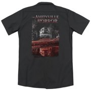 Amityville Horror Cold Blood (Back Print) Mens Work Shirt