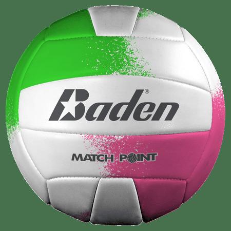 Baden Match Point Volleyball-Neon Pink/Green/White ()