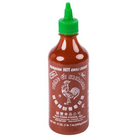 Sriracha Hot Chili Paste - 17 oz. Sriracha Hot Chili Sauce - 12/Case By TableTop King