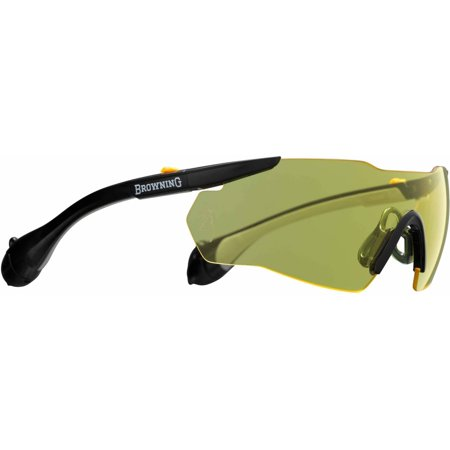 Browning 12744 Sound Shield Mens Ear/Eye Protection Yellow Lens/Black 25 (Remington T 72 Shooting Glasses Amber Lens)