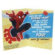 Hallmark 3rd Birthday Greeting Card For Boy Spider Man Badge Image 2 Of