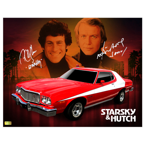 David Soul and Paul Michael Glaser Autographed 11?14 Starsky and Hutch Tribute Photo