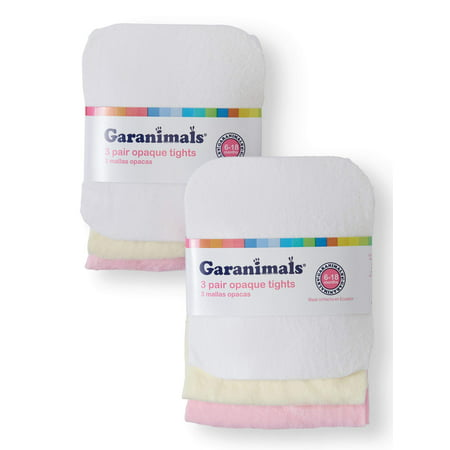Garanimals Opaque Tights, 3-Pack (Baby GIrls)