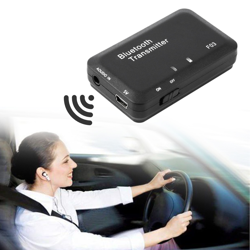 Mini TS-BT35F03 Wireless Bluetooth Audio Music Transmitter Receiver for Headset Smart TV MP3 Dongle Adapter Black