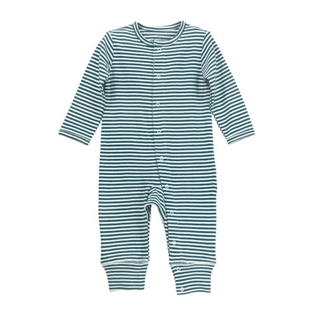 ee573c4d7 Oliver   Rain - Oliver   Rain Teal Striped Button-Front One Piece ...