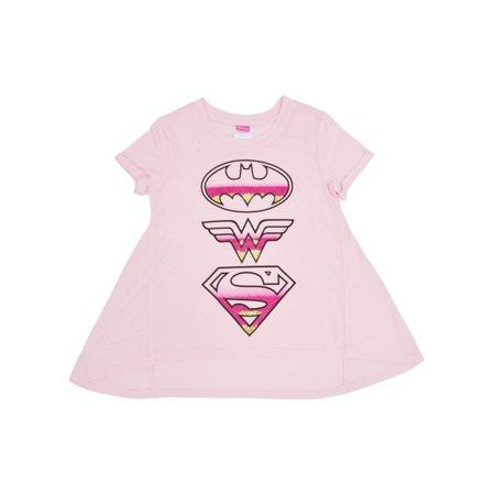 d6ad93dc1aa2 DC Superhero Girls T-shirt Supergirl Batgirl Wonder Woman Logo Print ...