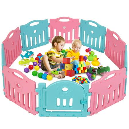 Baby Playpen Play Yard Safety Kids Infants Home Indoor 10