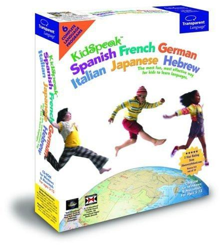 KidSpeak 6-in-1 Language Tutor. Learn French, German, Hebrew, Italian & Japanese (Windows Only)