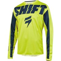 Shift Racing Wht Label York Youth Motocross Motocross Jersey - Ylw/Navy Blue,