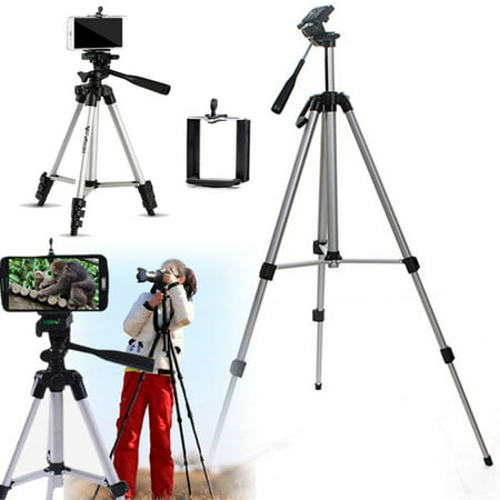 Yosoo 50 Inch Aluminum Camera Phone Tripod+ Universal Tripod Smartphone Mount for Apple, iphone Samsung and Other Brands Smartphones+carrying