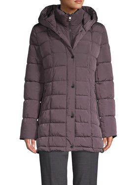 Square-Quilt Gilet Puffer Down Coat