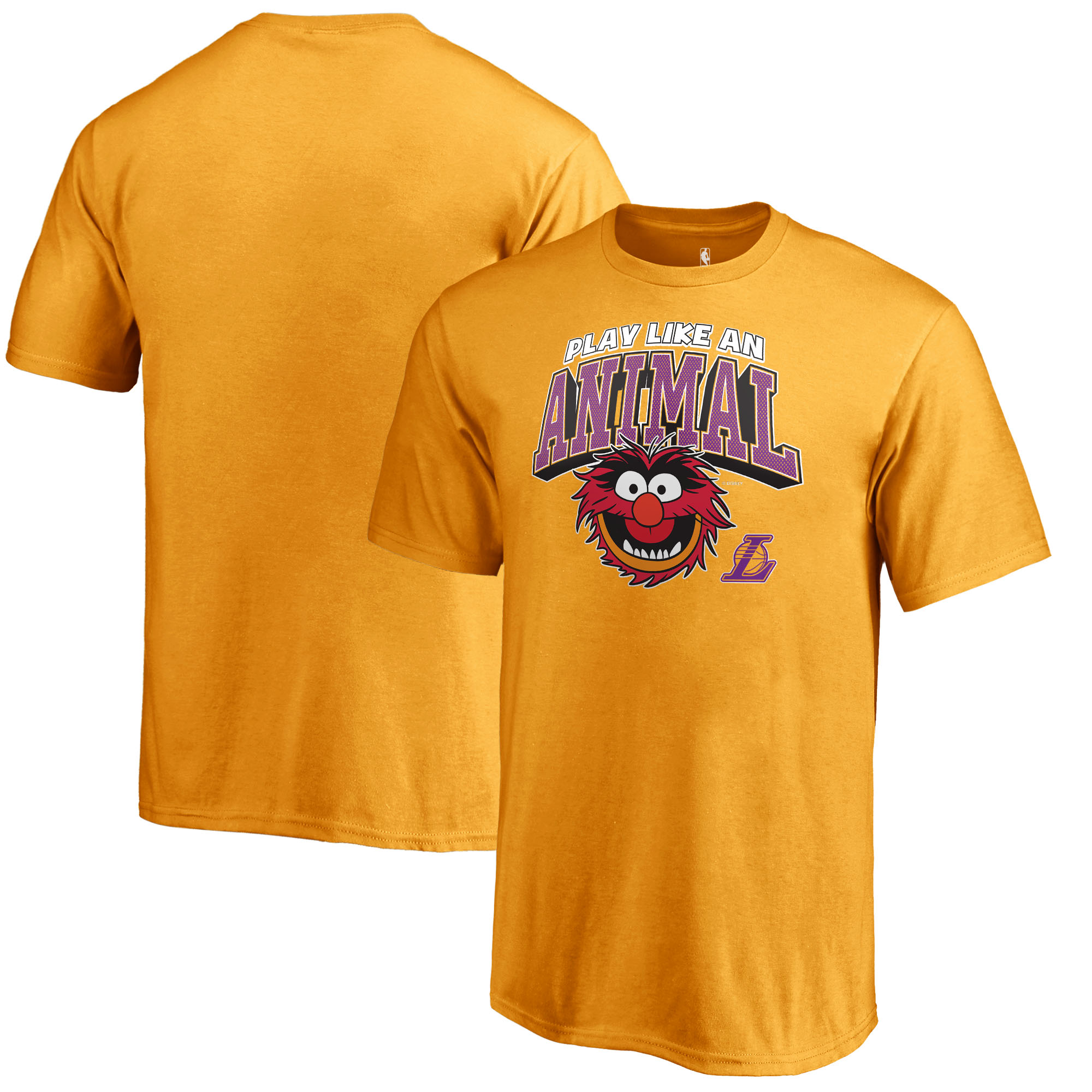 Los Angeles Lakers Fanatics Branded Youth Disney NBA Muppets Play Like an Animal T-Shirt - Gold