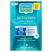 SmartMouth Activated Mouthwash Advance Clinical Formula, Maximum Plaque and Gingivitis Protection, Clean Mint, 32 fl oz