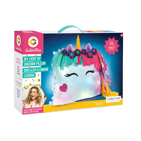GoldieBlox Unicorn Light Up Glowing Pillowing Kit