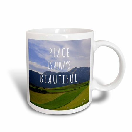 3dRose Peace is always Beautiful - Walt Whitman - peaceful inspiring words - truths of life - calm sayings, Ceramic Mug, 11-ounce](One Word Halloween Sayings)