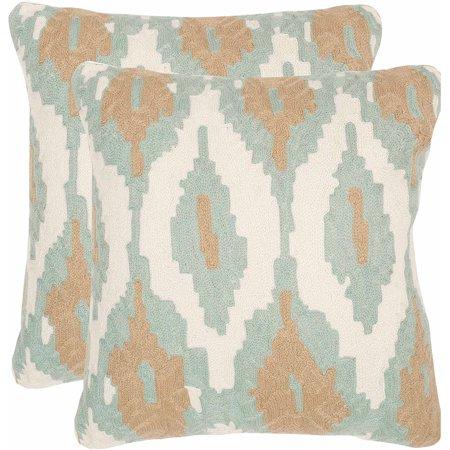 Safavieh Argo Pillow, Dusk Blue, Set of 2