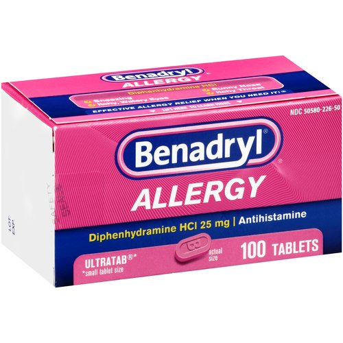 Benadryl Allergy Relief Ultratabs, 100 count