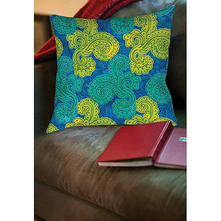 Thumbprintz Funky Florals Paisley  Royal Blue Indoor