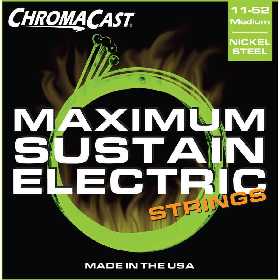 ChromaCast Maximum Sustain Medium Gauge(.011-.052) Electric Guitar Strings, 2 Pack by ChromaCast
