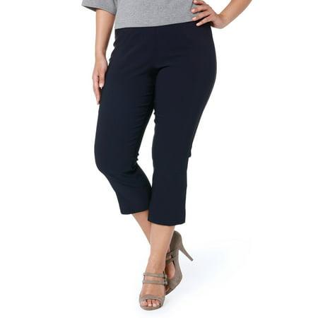 5b49b78d68c35 Ulla Popken Women s Plus Size Basic Stretch Capri Pants 640893 ...