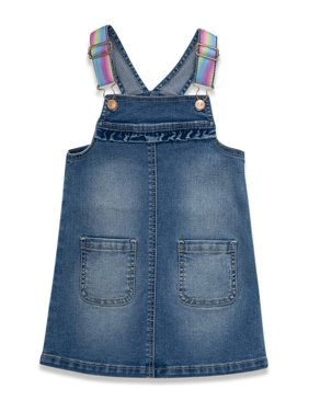 Wonder Nation Baby Girls & Toddler Girls Denim Skirtall (12M-5T)