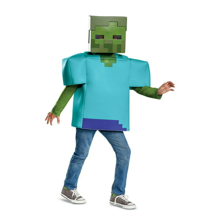 Minecraft Zombie Classic Child Costume](Plants Vs Zombies Zombie Halloween Costume)