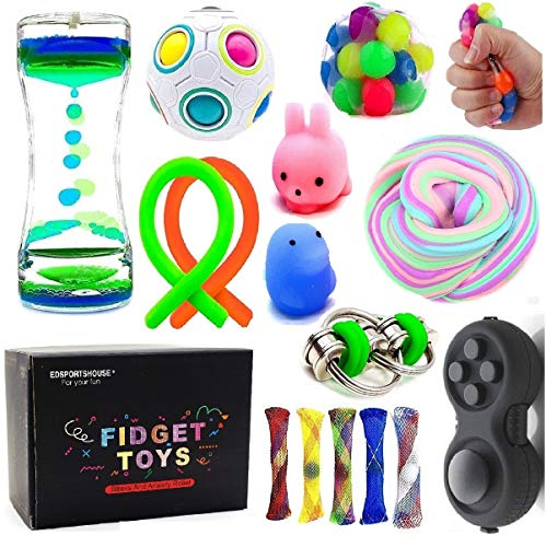 4 Pieces Hand Fidget Toys Fidget Game Pad Colorful Anxiety Focus Pad Small Fidget Controller Pad Sensory Fidget Toy Handheld Fidget Game Pad for Teens and Adults to Relieve Anxiety and Stress