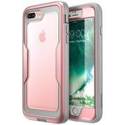 Iphone 7 Plus Case,i-Blason iPhone 8 Plus Case, [Heavy Duty Protection] [Magma Series] Full body Bumper Case (Rosegold)