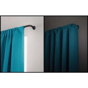 Eclipse 58 Diameter Room Darkening Wrap Curtain Rod 48 86 Black