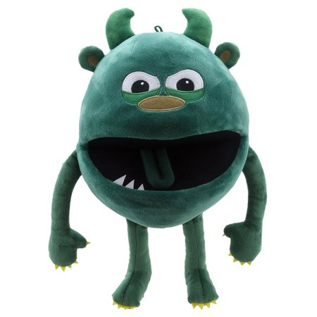 Hand Puppet - Baby Monsters - Green Monster Soft Doll Plush PC004403