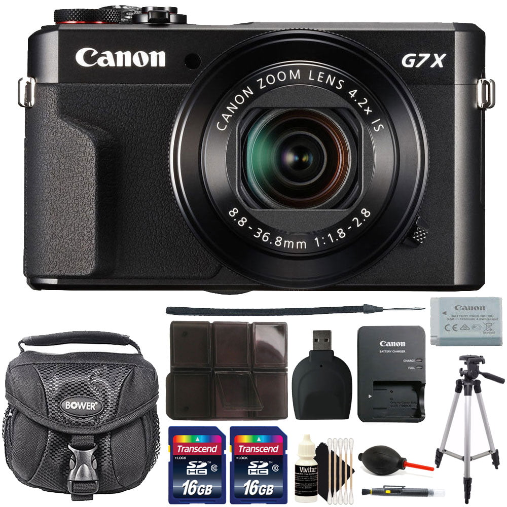 Canon G7X Mark II PowerShot 20.1MP BLACK Digital Camera with 32GB Accessory Kit Black by CanonInternational