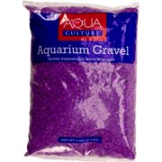 Aqua Culture Aquarium Gravel, Neon Lavender, 5 lb