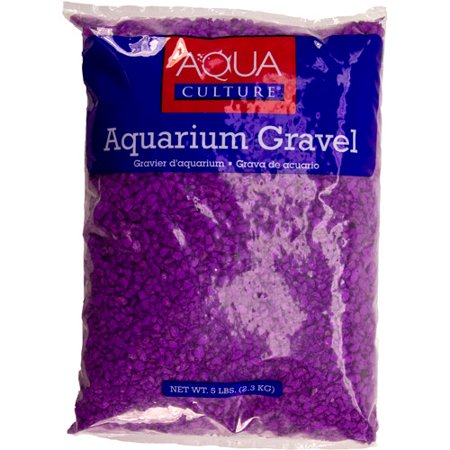 Aqua culture aquarium gravel neon lavender 5 lb for Walmart fish gravel