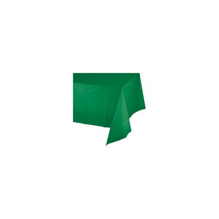 54 x 108 Plastic Tablecover Emerald Green Emerald Green Plastic Table