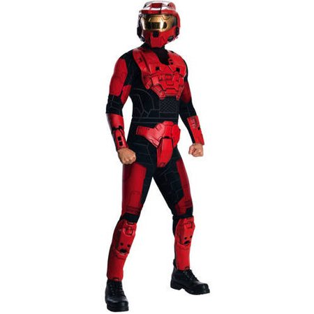 Red Halo Spartan Adult Halloween - Spartan Warrior Halloween Costume