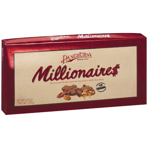 Pangburns: Pecans And Honey Caramel Covered In Milk Chocolate Millionaires, 9.75 Oz