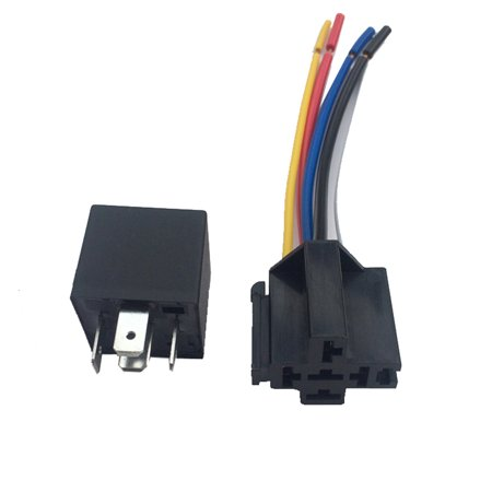 12V 40A AMP 5 SPDT Car Truck Auto Automobile Automotive Relay with 5 Pin Socket 5 Wires for GPS Lamplight Fan Air Condition