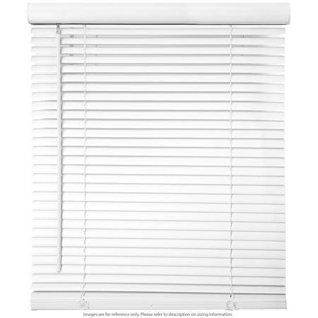 "Biltek Cordless Venetian Window Blinds Horizontal 1"" Slats Privacy Shade Anti-UV White - 48"" W x 64"" H - image 1 de 7"