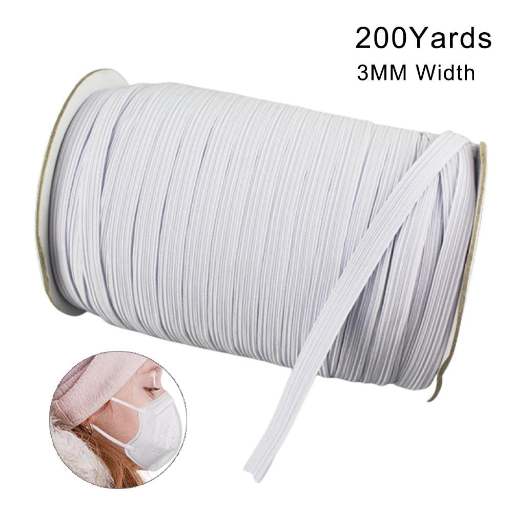 100 Yard 1//4 inch Elastic Cord Elastic Bands for Sewing Braided Stretch Strap Cord DIY Ear High Elasticity Knit Elastic Band Loop