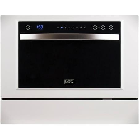 BLACK+DECKER BCD6W Compact Countertop Dishwasher ()