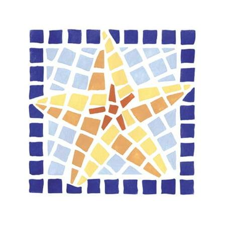 Mosaic Starfish Wall Stencil SKU #2062 by Designer Stencils