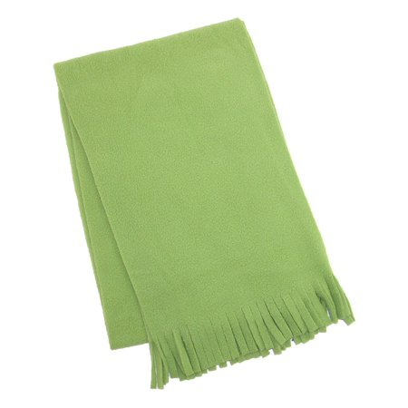 Size one size Kids' Fleece Winter Scarf, Olive Green