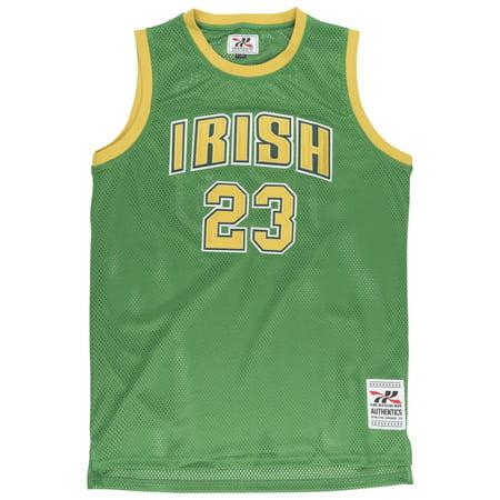 info for 31131 af6f1 Lebron James St Vincent HS Irish #23 Jersey Retro Throwback Mesh Green  Headgear