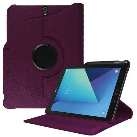 Multiple Holder - Case for Samsung Galaxy Tab S3 9.7 - Fintie PU Leather Multiple Angles Standing Cover W/ S Pen Holder, Purple
