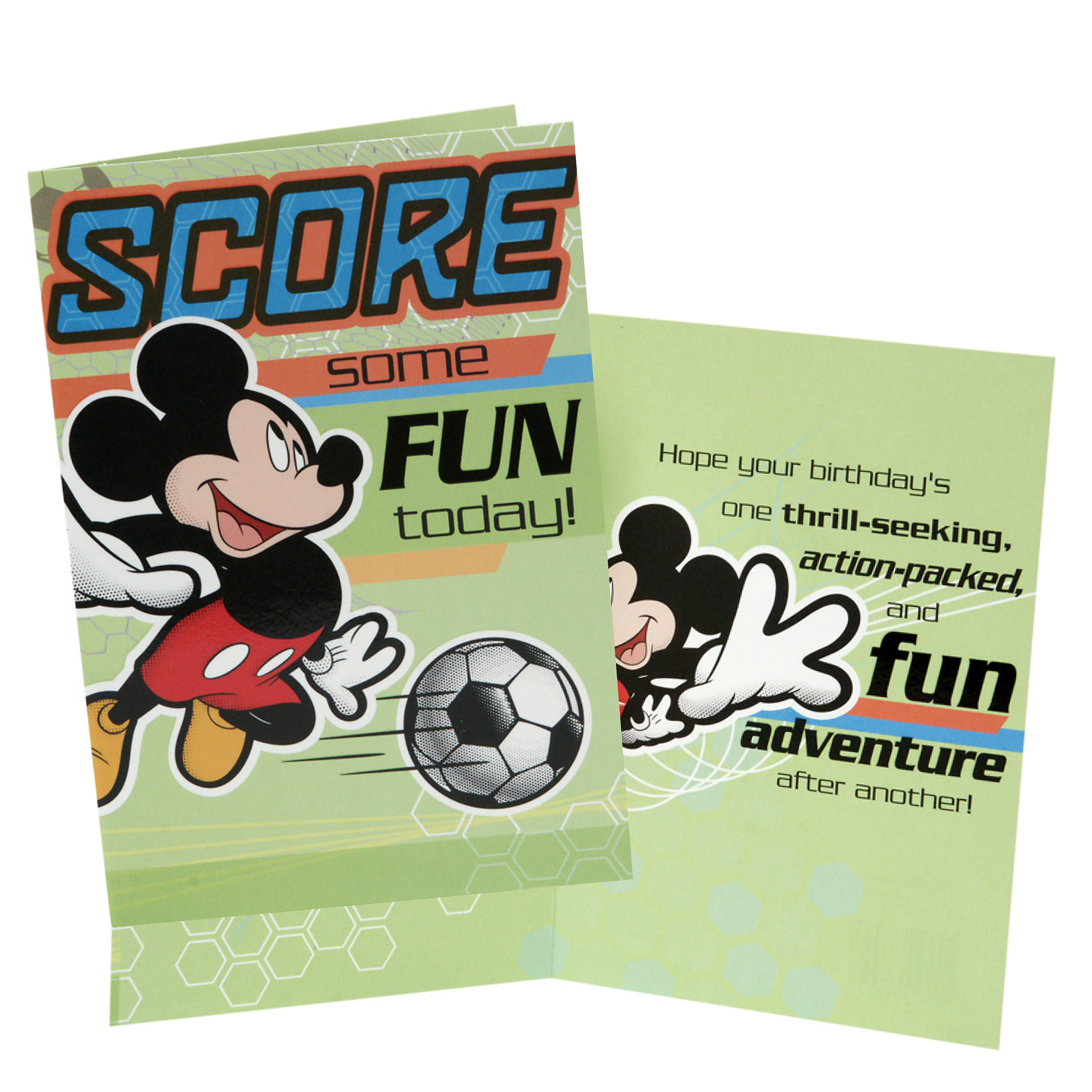 Hallmark Birthday Card for Boy - Soccer Mickey Mouse